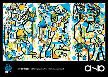 poster couleur présentant l'œuvre collective réalisée en team building artistique