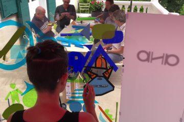 ana artiste en team building dans un film d'anthropologie visuelle en entreprise en France