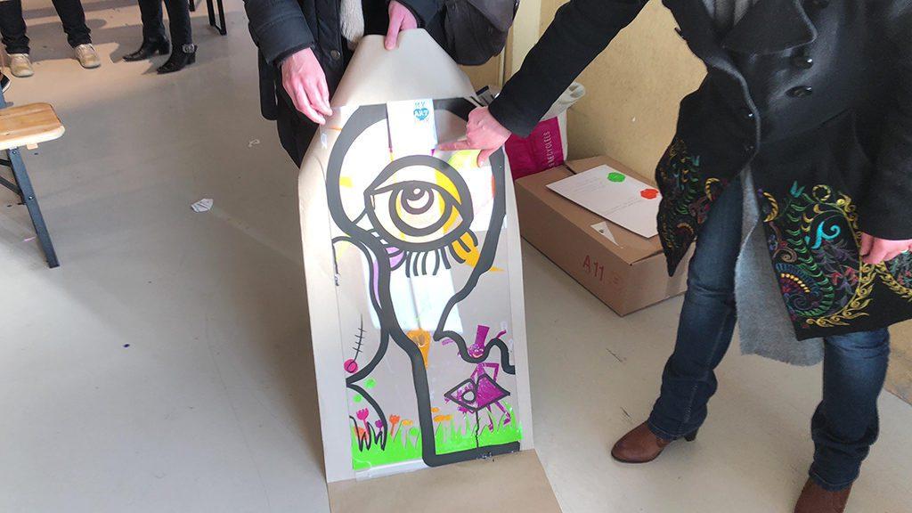 tableau d'une fresque idée de cadeau à la fin de serious play fresque en entreprise