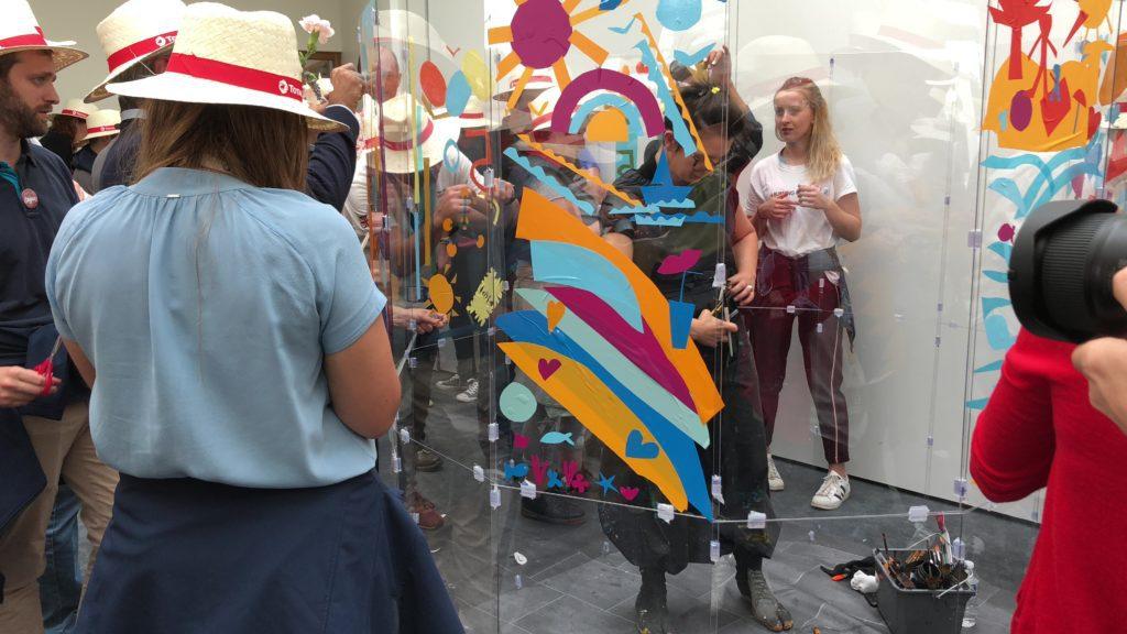 séance action art artiste aNa pour action art en entreprise et fil d'anthropologie visuelle