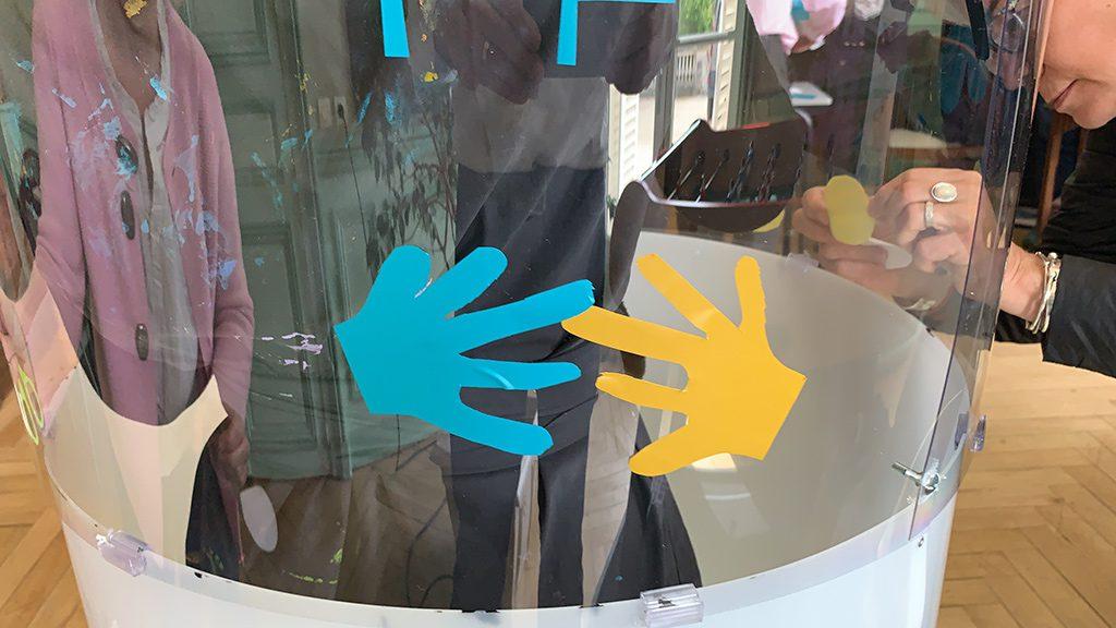exemple de découpage réalisé lors d'un team building bienveillant my art box