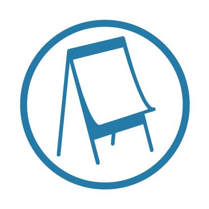 image dessinée et schématique d'un paper board pour exprimer l'idée du brainstorming en entreprise