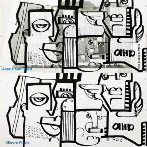 Exemple de Trophée dessiné par aNa Artiste pour idée cadeau remise de prix et anniversaire