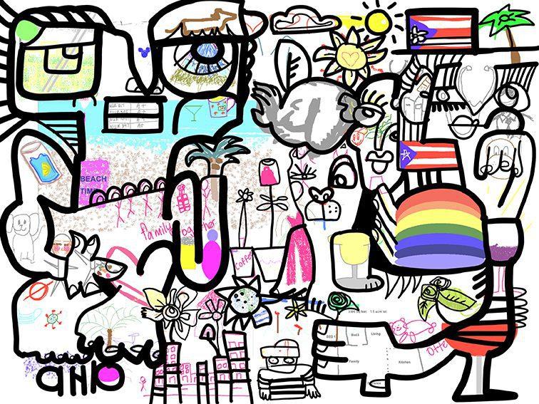 Animation Fresque en Télétravail – Activité œuvre commune digitale – Time Lapse souvenir – Animation Réunion Séminaire Team Building à distance pour construire ensemble et partager – Verbalisation.