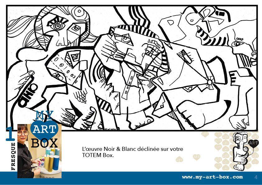animation team building fresque Paris et Ile de France modèle de Totem box par aNa artiste et My Art Box